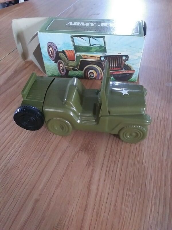 Vintage Avon Army Jeep Spicy After Shave Bottle