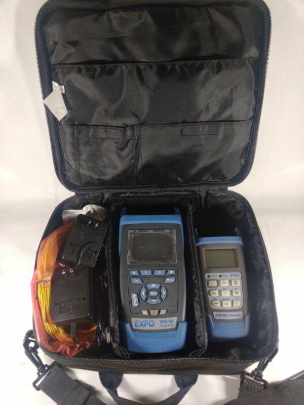 EXFO AXS-100 Mini Access SM Fiber OTDR AXS 100 AXS-100 FPM-600 w/ chargers, case