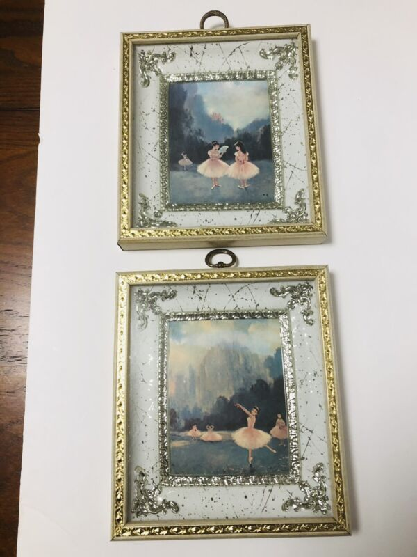 Vintage Japanese Asian Ballerina Pictures, Two Pics, One Signed, 6.6 By 7.5 Inch