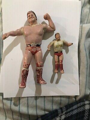 Vintage 1984 WWF LJN Roddy Piper Wrestling Action Figure WWE & Piper Bendie