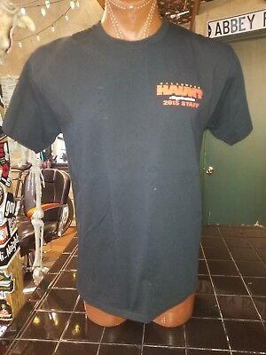 Halloween Haunt at Kings Dominion 2015 Staff black large t-shirt - Kings Dominion Halloween