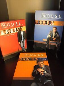 House - Complete box sets of seasons 1, 2 & 3