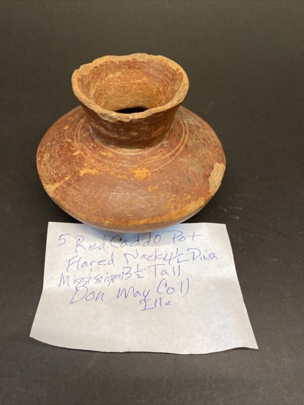 MLC s6860 Red Caddo Flared Neck Mississippian Pottery Arkansas - Texas