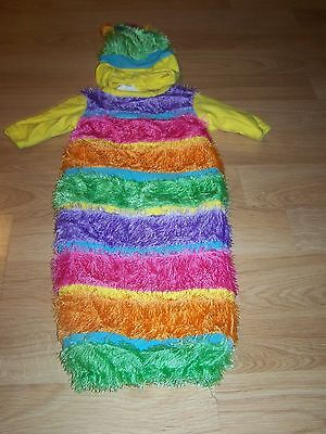 Infant Baby Girls Size 0-3 Months Inch Worm Halloween Costume Bunting Rubies EUC](0-3 Month Halloween Costumes)