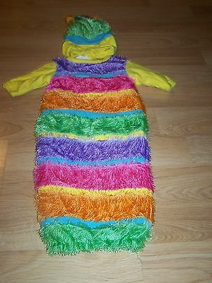 Infant Baby Girls Size 0-3 Months Inch Worm Halloween Costume Bunting Rubies EUC - Infant Halloween Costume 0-3 Months