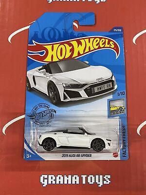 2019 Audi R8 Spyder #175 White 1/10 Factory Fresh 2020 Hot Wheels Case K