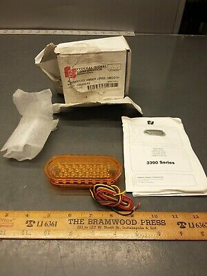 Federal Signal 330500-02 12vdc Amber Led Oval Smooth Lens. 3300 Series
