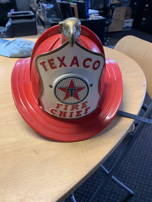 Texaco Fire Chief Helmet W/speaker