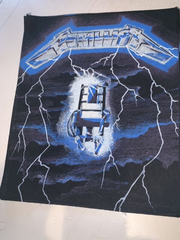 Unused 1990s Metallica Ride The Lightning Electric Chair Back Patch Made In UK