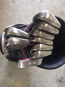 Golf clubs, Taylor Made M1 driver & putter, Mizuno Iron's, Srixon