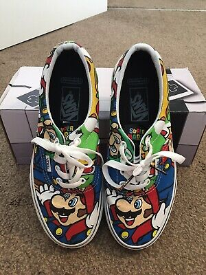 Vans Authentic Adult Size 5 Nintendo Mario Bros Shoes/trainers..
