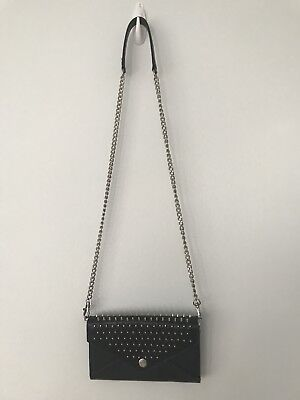 Rebecca Minkoff Wallet On A Chain Studded Envelope Cross Body Small Navy (Rebecca Minkoff Studded Wallet On A Chain)