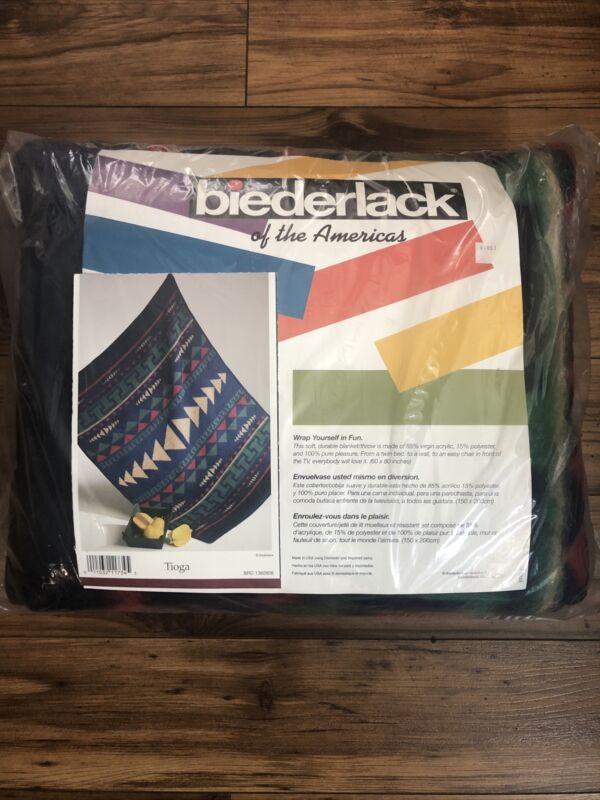 Biederlack of America Southwest Aztec Native Throw Inspired Tioga Made In USA