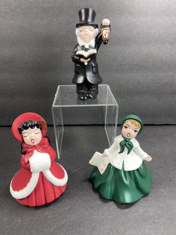 Vintage Ceramic Christmas Carolers Boy Girls Victorian Style Holland Mold
