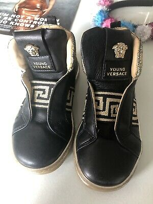 Versace Black Gold Girls Shoes