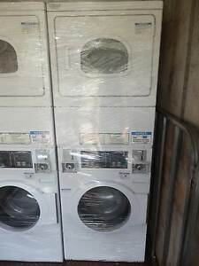 Speed Queen stacked washer dryer combo coin operated Spotswood Hobsons Bay Area Preview