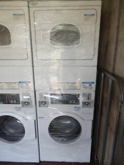 Speed Queen stacked washer dryer combo coin operated