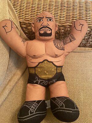 WWE Brawlin Buddies Wrestling Dwayne The Rock Johnson Soft Plush Talking Toy