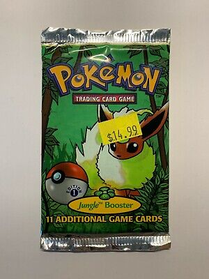 Pokemon 1999 1st Edition Jungle Booster Pack Sealed Flareon [Unweighed]