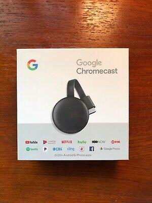 Brand New Google Chromecast 3rd Gen Digital HDMI Media Streaming Device