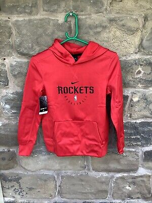 Brand New With Tags Nike NBA Houston Rockets Hoodie Red Small Youth 8/10