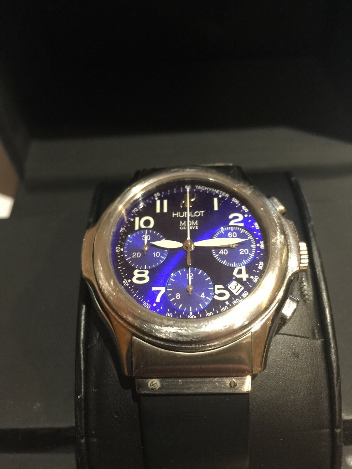 Hublot MDM Geneve Chronograph Stainless Automatic Mens Watch 1810.2 Boxes papers - watch picture 1