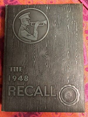 1948 Augusta Military Academy The Recall Fort Defiance VA Yearbook