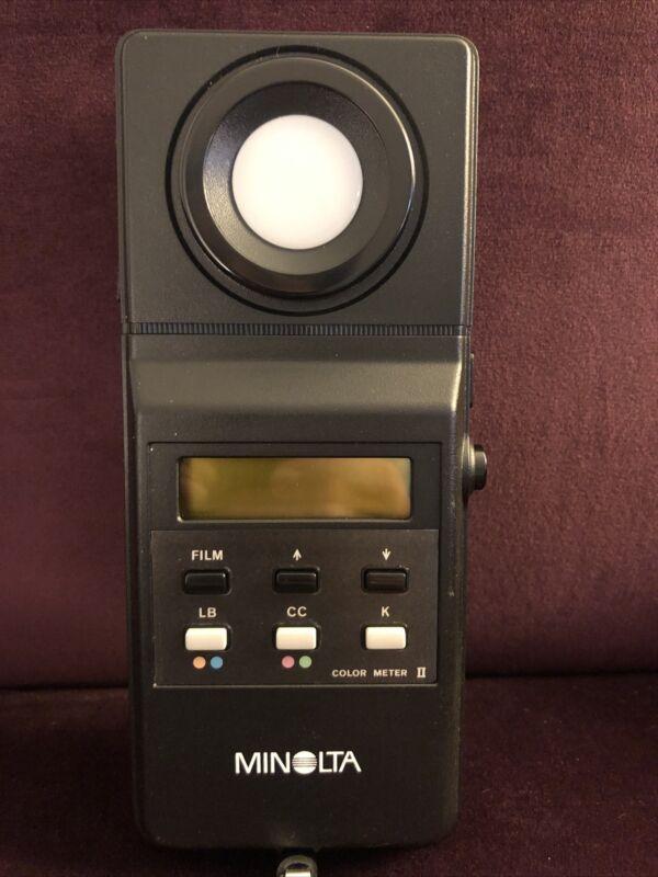 Minolta Color Meter II - Color Temperature Meter With Original Case