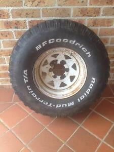 Toyota Land Cruiser Hilux spare wheel with Mud Terrain Tyre Albion Park Shellharbour Area Preview