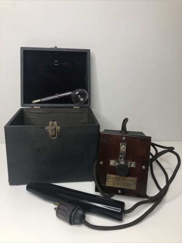 Vintage Renulife Electric Co. Violet Ray Shock Machine And Case