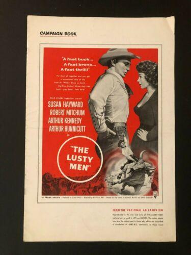 "The Lusty Men Original Movie Pressbook (1952) - 20 Pages 12"" x 18"" EX"