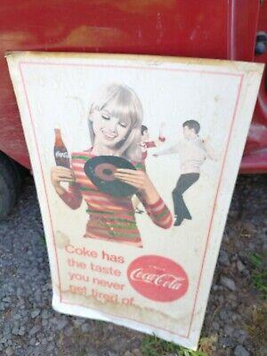 Vintage cardboard Poster Coca-Cola