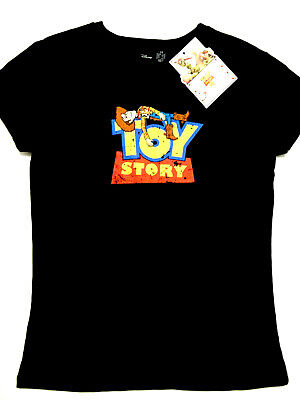 WOODY OFFICIAL TOY STORY 4 T-SHIRT BK COTTON CAP SLEEVE LADIES BNWT PRIMARK ()