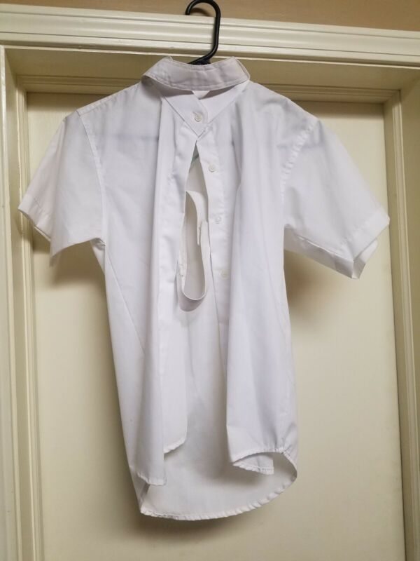 $25 NWOT Abetta Girls 12R Short sleeve Show Shirt white english hunter pony 4H
