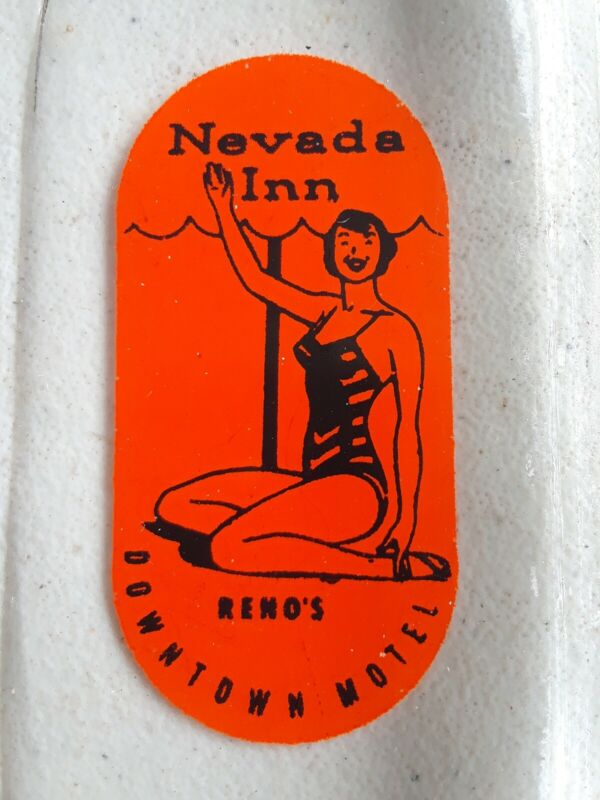 Vintage advertising ashtray Nevada Inn Reno Downtown Motel super nice.