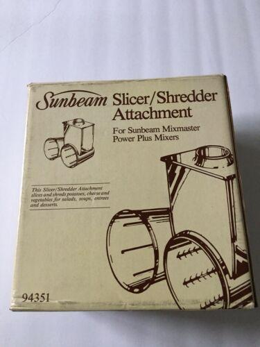 Vintage Sunbeam Slicer Shredder Attachment #94351