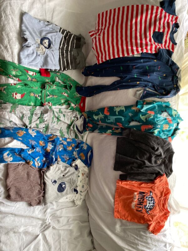 Baby Boy Clothes Lot 18 Months 17 Pieces Mostly Carters