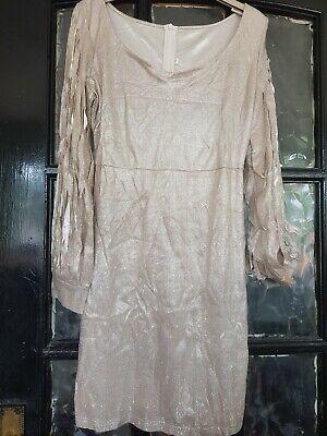 gold sequin dress 8/10