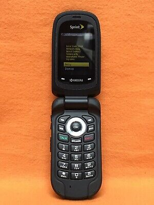 SPRINT, KYOCERA DURACORE E4210 FLIP CELLPHONE PTT, GPS, BLACK, SCORCHING   4210 Gps