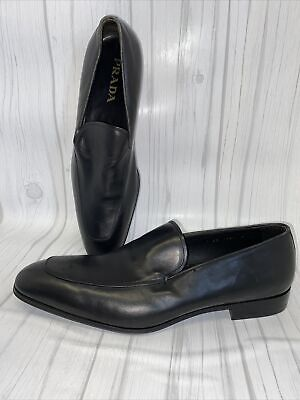 Mens Vtg PRADA loafer dress shoes slip on leather made in italy UK 7 US 8 $595