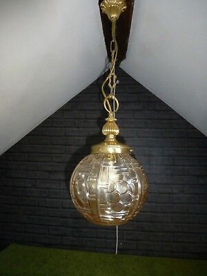 FRENCH ART DECO BOULE DE NEIGE PENDANT LIGHT