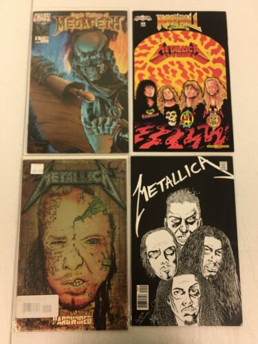 ROCK & ROLL BIOGRAPHIES METALLICA 1 1:5 METAL COVER SIGNED DEVITO & MORE LOT 4