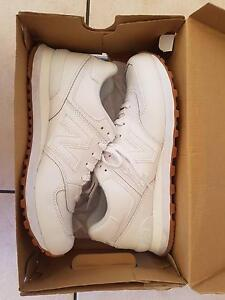 New Balance - 574 Leather All White - Men Woodvale Joondalup Area Preview