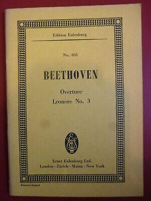 Ludwig van Beethoven Partitur  Noten Studienpartitur Leonore Ouverture Nr. 3