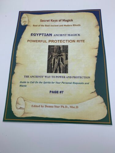 Book of Shadows PROTECTION EGYPTIAN MAGICK Spell Best Spells Magick