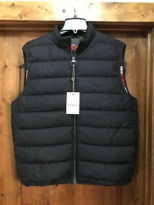 Barbour Men's Rugby Scrum Waxed Vest, Gilet, New With Tags, Large, Navy $250