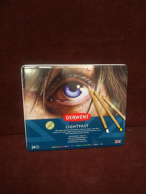 Derwent Lightfast Colored Pencils Artist Drawing Painting Professional 24 Ct
