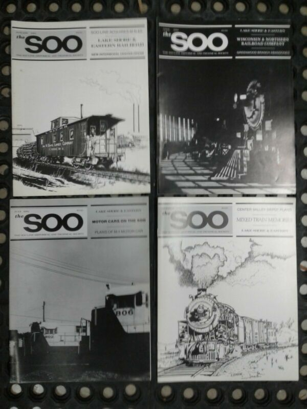 The Soo Line Historical & Technical Society Magazine 1982 Vol 4, 4 issues (PSMR)