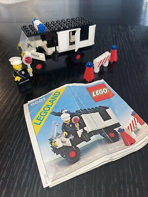 Lego 6681 Classic Town POLICE VAN 1981 complete set with instructions