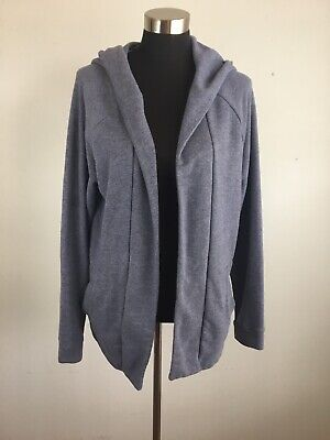 Fabletics Womens Vanessa Hooded Cardigan Sweater XL Slate Blue Pockets
